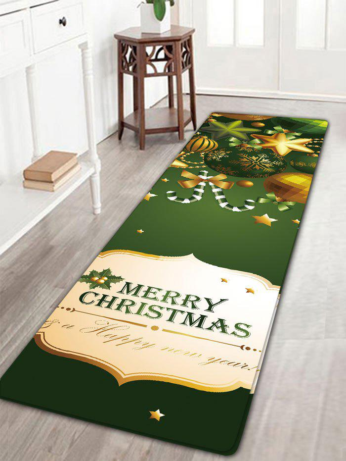 Christmas Ornaments Print Antislip Flannel Bath Rug flannel skidproof bath rug with butterfly print