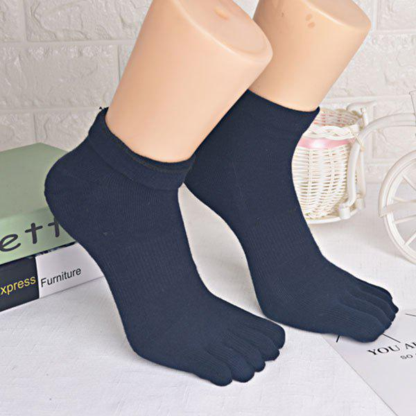 Five Toe Finger Cotton Blend Socks - PURPLISH BLUE