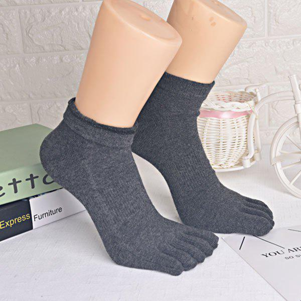 Five Toe Finger Cotton Blend Socks - DEEP GRAY