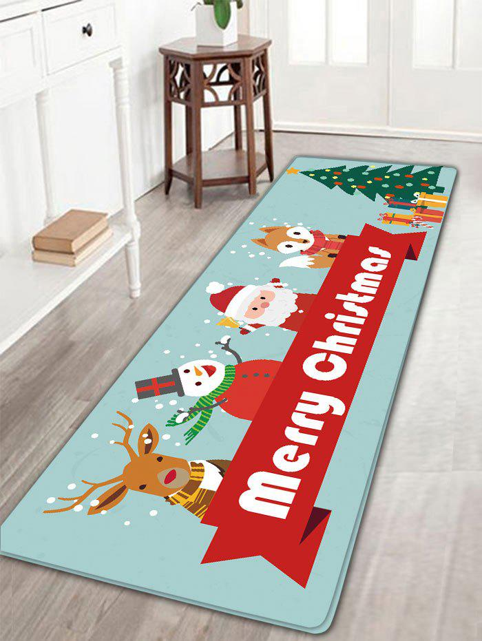 Christmas Elk Snowman Santa Claus Fox Tree Antislip Bath Rug