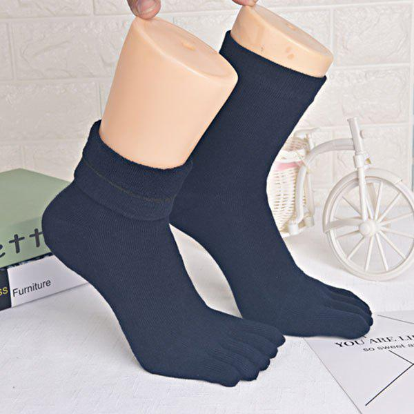 Five Finger Toe Keep Warm Cotton Blend Socks - PURPLISH BLUE