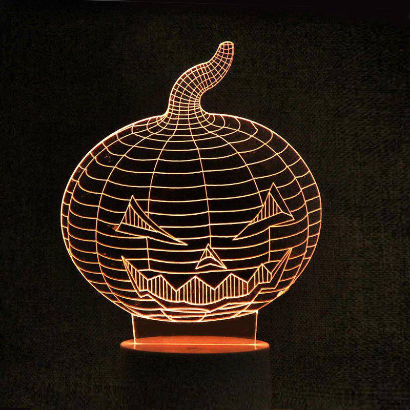 Halloween Pumpkin Remote Control Color Change Night Light - TRANSPARENT