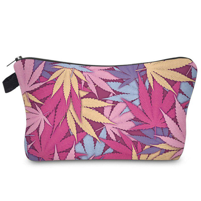 Zipper Print Leve Makeup Bag - multicolorcolore