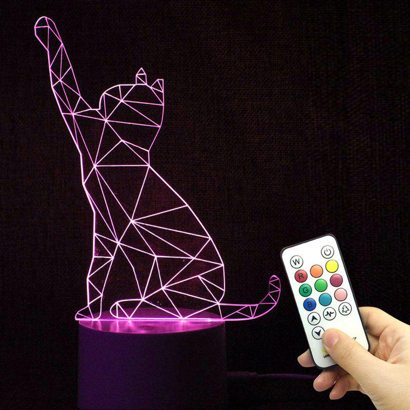Color Changing 3D Visual  Remote Control LED Night Light creative 3d visual color changing led touching night light