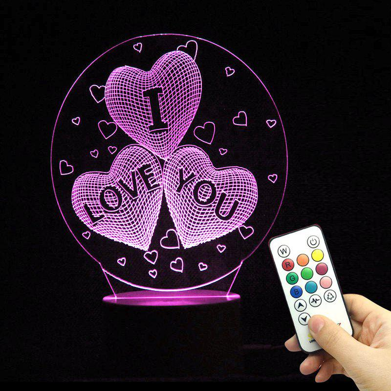 Image of 10 Color Changing Love Confession Best Gift LED Night Light