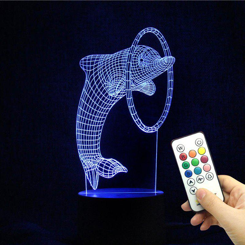3D LED Dolphin Shaped Color Change Holiday Gift Night Light - TRANSPARENT