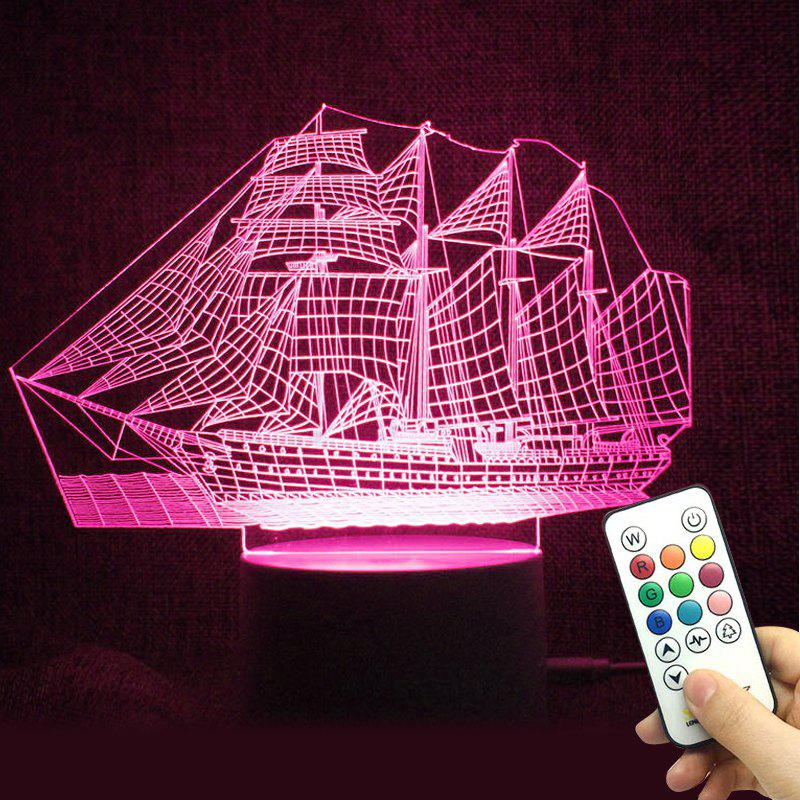 Colorful LED 3D Visual Ship Shape Touch Night Light With Remote Control identity of political parties in albania