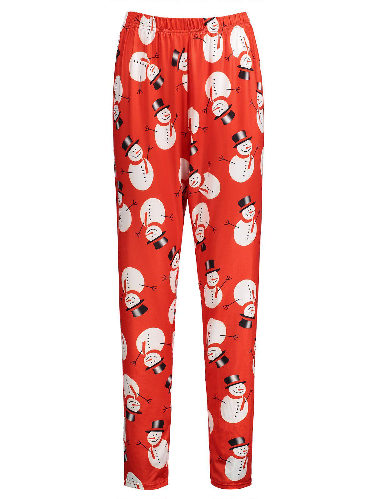 Leggings de neige en neige - Rouge 3XL