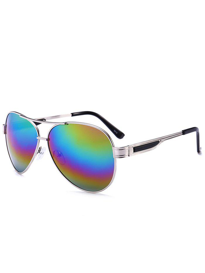 Vintage Full Frame Crossbar Pilot Sunglasses - COLOR