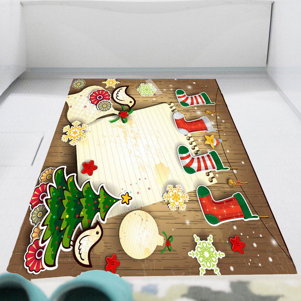 Multicolor Christmas Stocking Print Wall Sticker - coloré 1PC:24*35 INCH( NO FRAME )
