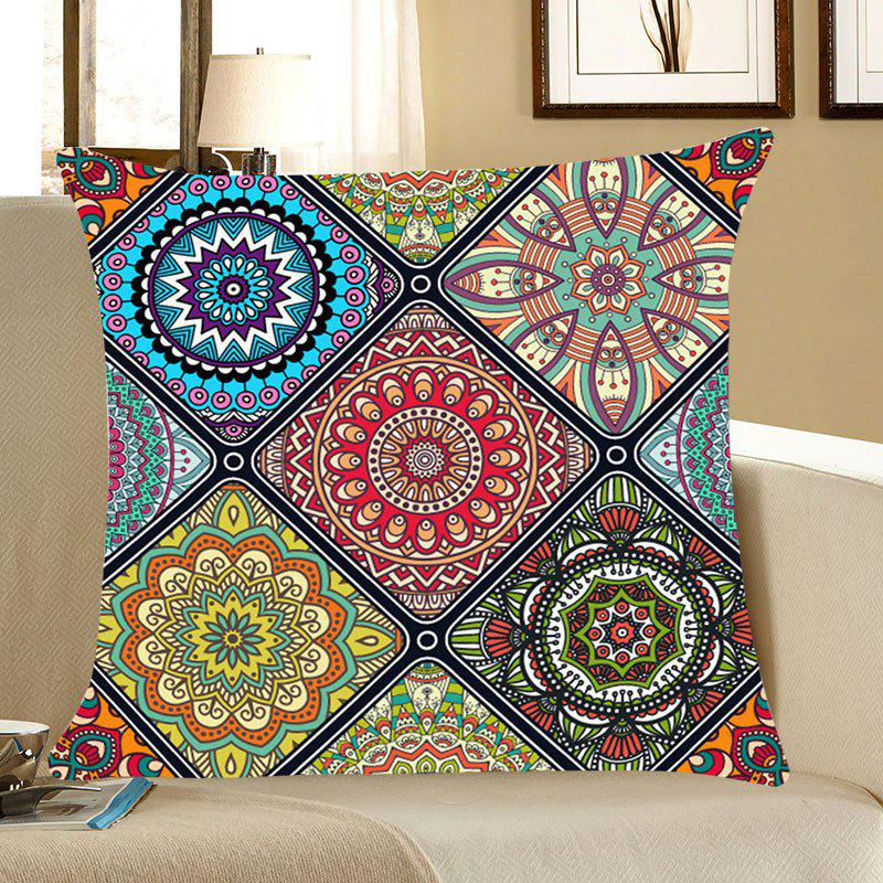 Bohemian Flowers Printed Throw Pillow Case merry christmas grass cushion throw pillow case