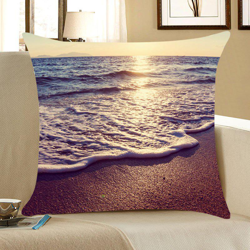 Beach Sea Wave Sunset Pattern Pillow Case - COLORFUL W18 INCH * L18 INCH