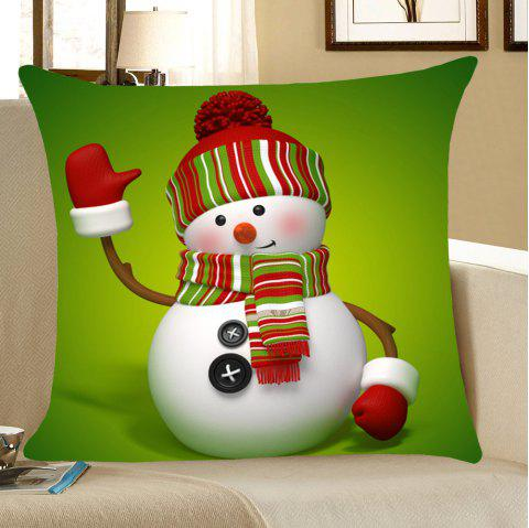 Christmas Snowman Throw Pillow Case Home Decor - GREEN W18 INCH * L18 INCH