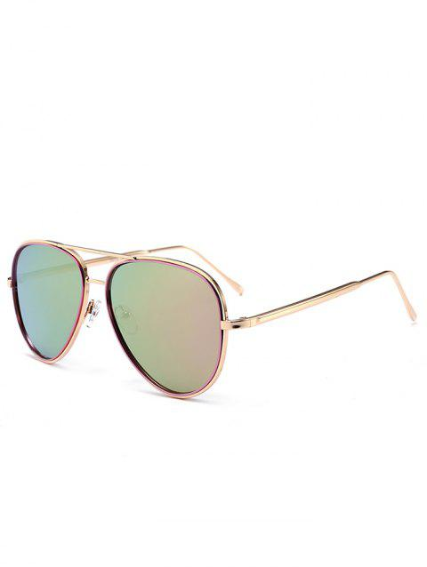 11e7923e2f 2018 UV Protection Metal Frame Crossbar Sunglasses PINKISH PURPLE In ...