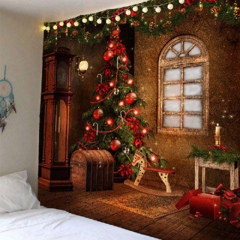 2018 Christmas Tree Decorations Patterned Tapestry Wall Art In ...