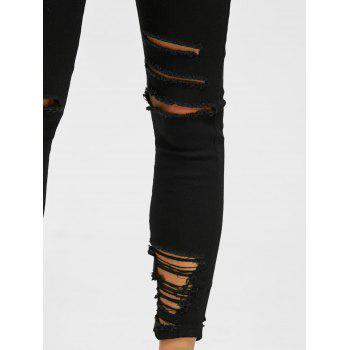Destroyed Skinny Jeans - BLACK 2XL