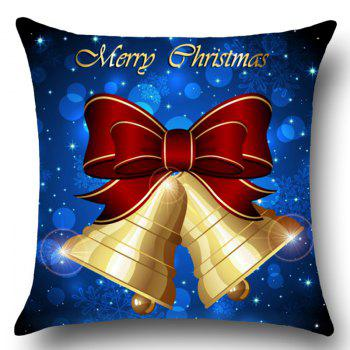Christmas Bells Printed Throw Pillow Case Home Decor - W18 INCH * L18 INCH W18 INCH * L18 INCH