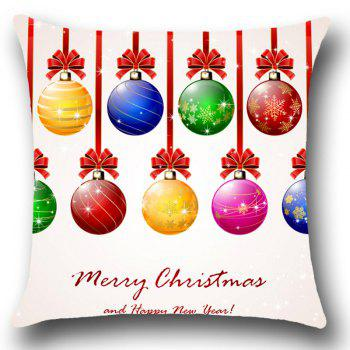 Christmas Colorful Balls Pattern Decorative Pillow Case - COLORFUL COLORFUL