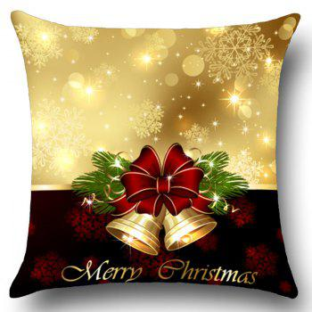 Jingle Bell Pattern Linen Pillow Case - COLORFUL W18 INCH * L18 INCH