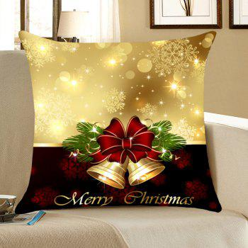 Jingle Bell Pattern Linen Pillow Case - COLORFUL COLORFUL