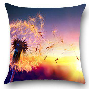 Sunset Dandelion Printed Home Decor Throw Pillow Case - W18 INCH * L18 INCH W18 INCH * L18 INCH