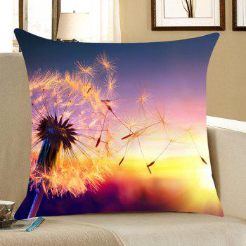 Sunset Dandelion Printed Home Decor Throw Pillow Case - COLORFUL W18 INCH * L18 INCH