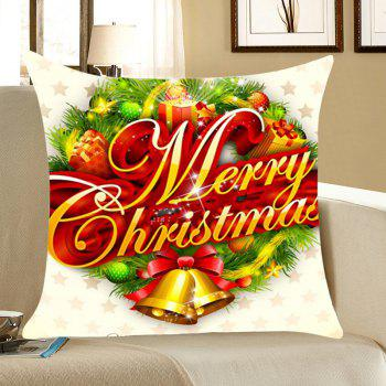 Christmas Small Bells Gifts Print Throw Pillow Case - COLORFUL COLORFUL
