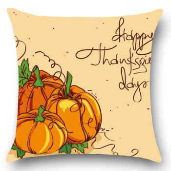 Thanks Giving Days Pumpkin Patterned Throw Pillow Case - KHAKI W18 INCH * L18 INCH