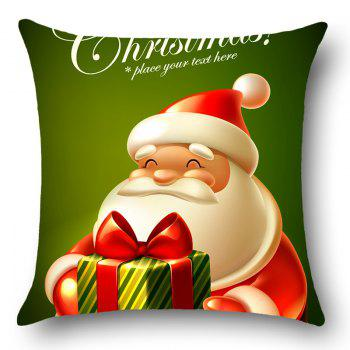Santa Claus Patterned Home Decor Throw Pillow Case - DEEP GREEN W18 INCH * L18 INCH