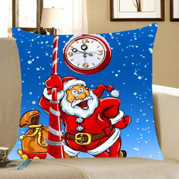 Santa Claus Pattern Home Decor Throw Pillow Case - BLUE AND RED BLUE/RED
