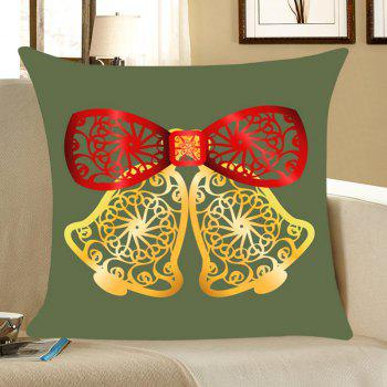 Hollow Cut Bells Patterned Throw Pillow Case - ARMY GREEN W18 INCH * L18 INCH