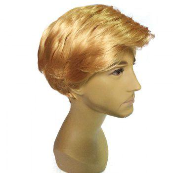 President Donald Trump Cosplay Short Side Parting Straight Man Wig -  GOLDEN