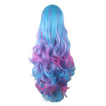 Long Full Bang Fluffy Wavy Colormix Synthetic Cosplay Lolita Wig - COLORMIX