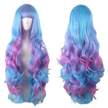 Long Full Bang Fluffy Wavy Colormix Synthetic Cosplay Lolita Wig - COLORMIX COLORMIX