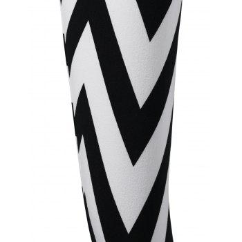 Monochrome Zigzag Leggings - M M