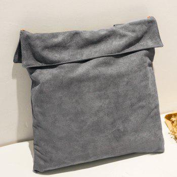 Drawstring Shoulder Bag -  GRAY