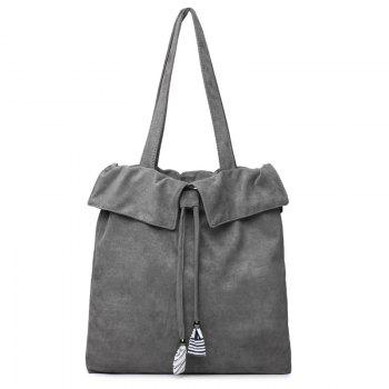 Drawstring Shoulder Bag - GRAY GRAY