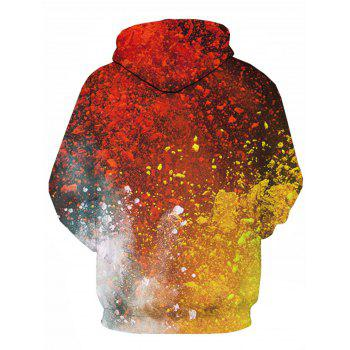 Paint Ombre 3D Print Pullover Hoodie - multicolorcolore 2XL