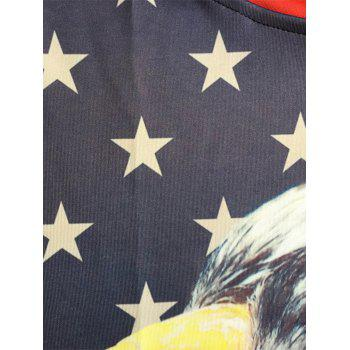 American Flag Eagle 3D Pullover Sweats à capuche - multicolorcolore 2XL