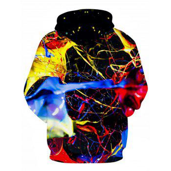 Colorful 3D Splatter Paint Print Pullover Hoodie - multicolorcolore M
