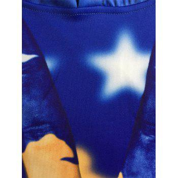 Finger Star 3D Print Pullover Hoodie - multicolorcolore M