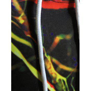 Colorful 3D Splatter Paint Print Pullover Hoodie - multicolorcolore 3XL