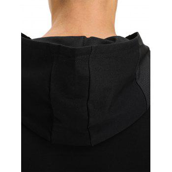 Openwork Panel Zip Pockets Vest - BLACK 2XL