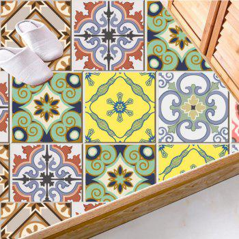 European Wall Tile Stickers Nonslip Floor Decals Set - multicolorcolore 4*4 INCH
