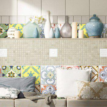 European Wall Tile Stickers Nonslip Floor Decals Set - multicolorcolore 6*6 INCH