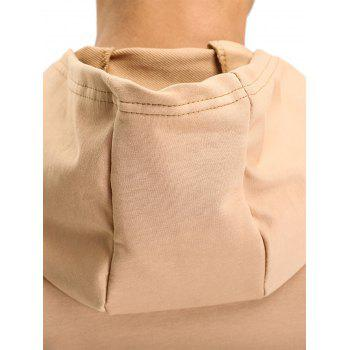 Hooded Pouch Pocket Zipper Vest - L L
