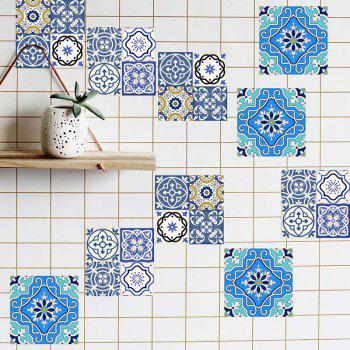 Geometric Flower Antislip Floor Decals European Wall Tile Stickers Set - COLORMIX 4*4 INCH