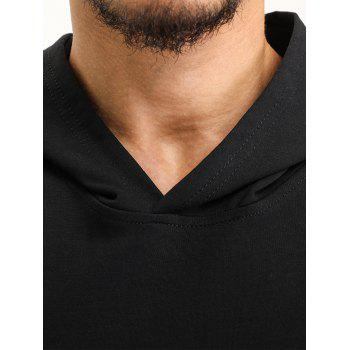 Hooded Pouch Pocket Zipper Vest - BLACK 2XL