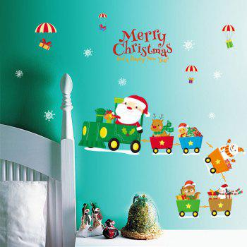 Christmas Santa Train Pattern Wall Art Stickers - COLORMIX COLORMIX