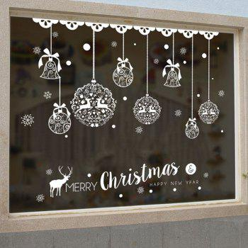Christmas Baubles Pattern Wall Art Stickers - 50*70CM 50*70CM